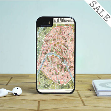 Paris Map For iPhone | Samsung Galaxy | HTC Case