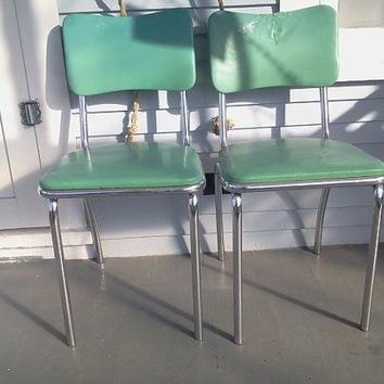 Good 2 Howell Vintage Vinyl And Chrome Chairs