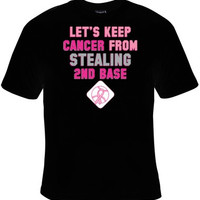2ND BASE Cancer Awareness, Support Family, Awesome Christmas Gift, Great Tee for Men And Women