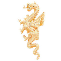 14K Yellow Gold Dragon Pendant, Dragon Pendant, Dragon Jewelry, Gold Dragon, Gold Jewelry, Dragon