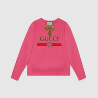 Gucci - Gucci print sweatshirt with bow