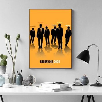 Reservoir Dogs Movie TV Poster Wall Art Wall Decor Silk Prints Art Poster Paintings for Living Room