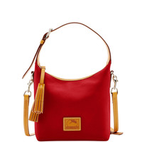 Dooney & Bourke Patterson Persimmon Leather Paige Zipper Closure Crossbody
