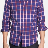 Men's Gant Rugger 'Windblown' Hugger Fit Plaid Oxford Sport Shirt