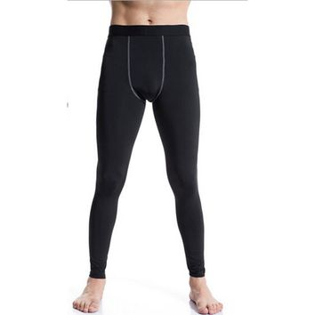 Men Bodybuilding Fitness Joggers Compression Base Layer Thermal  Tights