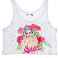 Marina the Diamonds Drawing By S Crop Tank Top