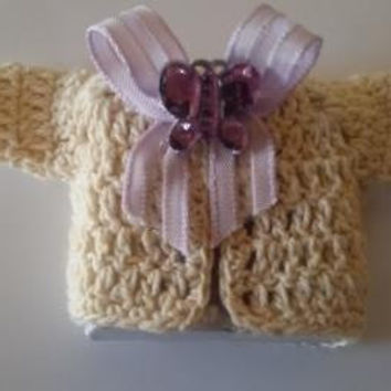 Crochet Sweater For New Born Candy Favors , New Born Candy Favor , Free Shipping,Min Order 10 Pcs