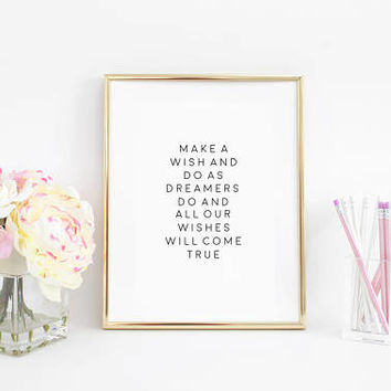 Dream Big little one,Nursery Decor,Printable Art,Inspirational Quote,Follow your Dreams,Typographic Print,Motivational Quote,Nursery Quote