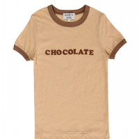 Kids Chocolate Vintage Ringer Tee
