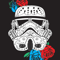 Storm Trooper Dia De Los Muertos Art Print by LexLuthor