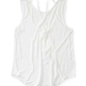 Aeropostale Womens Lattice Back Tank Top
