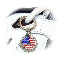 Gadsden Don't Tread On Me USA Flag - Tea Party Shoe Bottlecap Charm