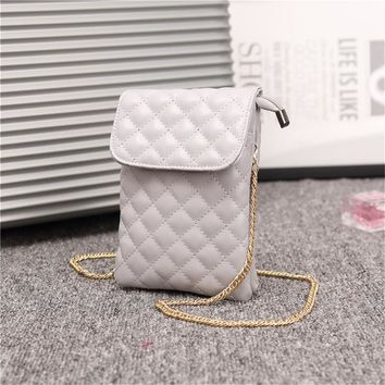Womens PU Leather Cell Phone Shoulder Bag Purses Wallet