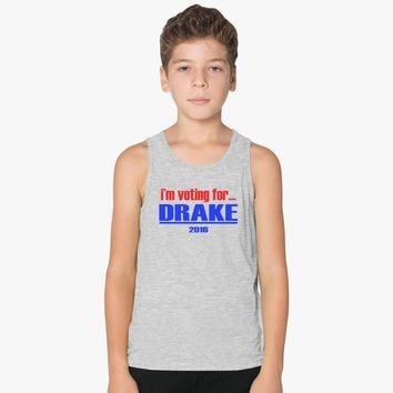 Voting For Drake Kids Tank Top