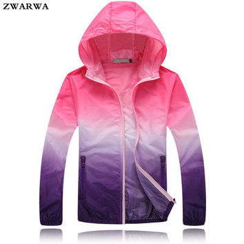 2017 New Fashion Summer Women Zipper Hoodies Slim Jacket Spring Thin Windbreaker Basic Jackets Plus Size Outwear Fast Sun Coat