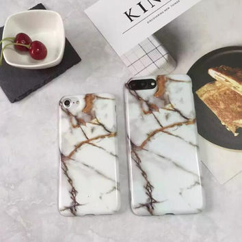Unique marble phone case for iphone 7 7plus 6 6s 6plus 6s plus 170113