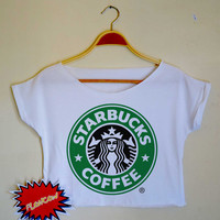 starbucks shirt Starbucks Coffee Shirt Starbucks Cloting Tops  Tank Women Crop Top Women Crop Top Tee CT