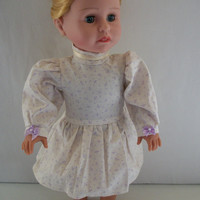 Handmade for American Girl Doll  Long Puffy Sleeve Dress by vw53