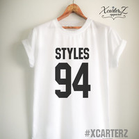 Styles Shirt STYLES 94 T-Shirt Print on Front or Back Women Men Unisex Tumblr T-Shirt White/Black/Grey/Red