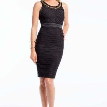 Chain Neck Shutter Dress