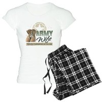 Army Wife supporting Women's Light Pajamas> Army Wife supporting > militaryprideshop.com