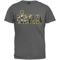 Nirvana - Textured Smiley T-Shirt