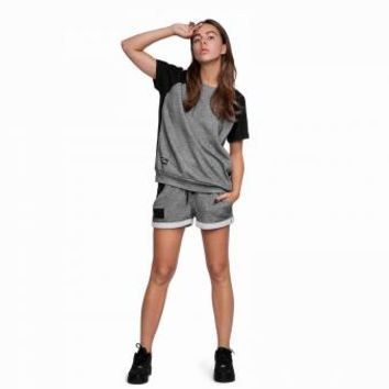 Graphite French Terry Shorts