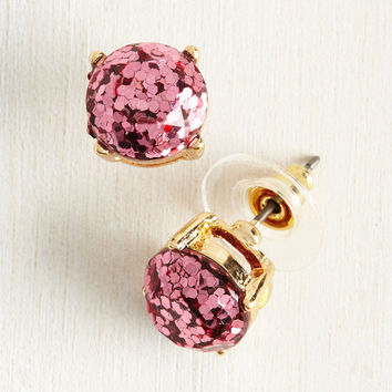 Glitter and Glee Earrings in Rose | Mod Retro Vintage Earrings | ModCloth.com