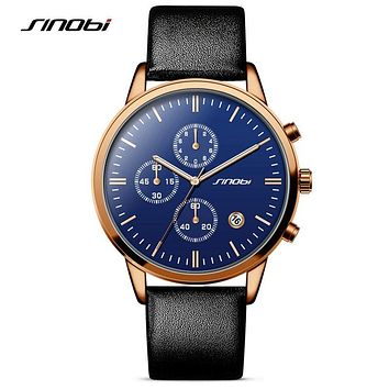 Fashion Multi function Men Wrist Watches Leather Strap Top Luxury Males Business Quartz-watch Homes