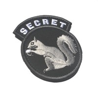 custom morale patch  hook SECRET SQUIRREL USA tactical patch Embroidered military SWAT special forces for backpack vest