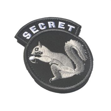 11989a1af0b06 custom morale patch hook SECRET SQUIRREL USA tactical patch Embroidered  military SWAT special forces for backpack