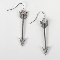 Women's Glitz Arrow Earring in Silver by Daytrip.