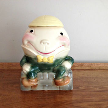 Brush Pottery Humpty Dumpty Cookie Jar vintage 1950s