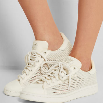 adidas Originals | Stan Smith Woven mesh and canvas sneakers | NET-A-PORTER.COM