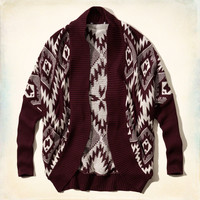 Patterned Cocoon Sweater