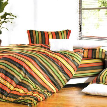 Colorful Stripe Luxury Comforter Set Combo 300GSM