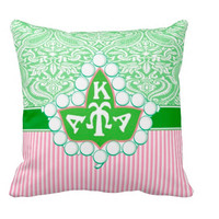 Alpha Kappa Alpha Pillow - AKA Ivy Pearl Broach Throw Pillow