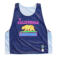 California Lacrosse Neon Print Pinnie