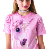 The Mountain Cutie Pie Unicorn Tee Cotton Candy