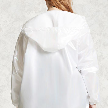Plus Size Iridescent Windbreaker