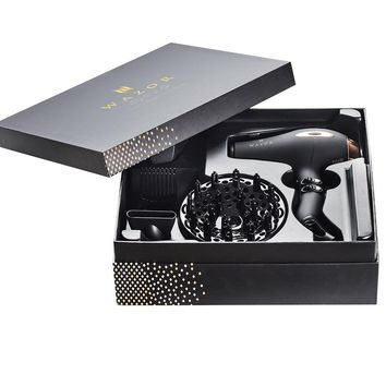 Wazor Hair Dryer Pro AC motor Ceramic Negative Ionic Blow Dryer With 4 attachments