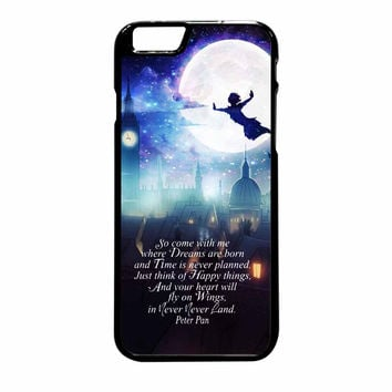 Peter Pan Quote Disney In The Moon iPhone 6 Plus Case
