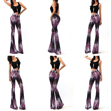 Women's High Waisted Vintage Boho Bell Bottom Stretch Pants.     Only Purple and Black Available.    In Sizes From Small to XL.    ***FREE SHIPPING***