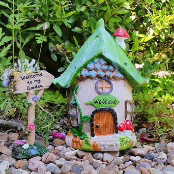 Fairy Garden House, Fairy House, Outdoor Fairy House, Terrarium House, Gnome House, Terrarium Kit, Miniature Fairy House, Fairy Garden Home