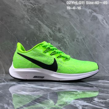 hcxx N1309 Nike Air Zoom Pegasus 36 Breathable Mesh Running Shoes fluorescent Green