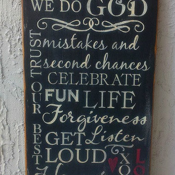 We Do, Love, Family, Mistakes, Family Rules,  Hand Painted, Handmade, Primitive, Distressed, Christmas, Wooden Signs