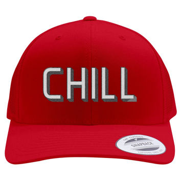 Funny Netflix And Chill Embroidered Retro Embroidered Trucker Hat