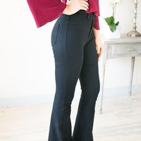 Through The Night Black Flare Jeans