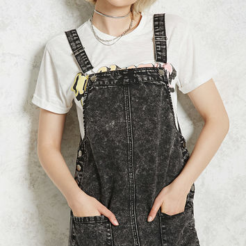 Acid Wash Overall Dress