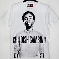 Rapper Childish Gambino Donald McKinley Glover Bino Troy Barnes Camp Derrick Comedy White Unisex T-Shirt S to XXL